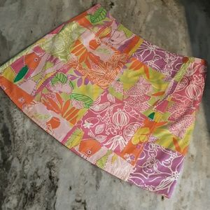 Lilly Pulitzer women's size 0 reversible skirt
